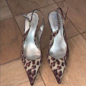 Cheetah Guess Heels